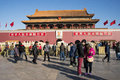 Asian china beijing historic buildings the tian anmen rostrum tiananmen gate in people s republic of center of tiananmen plaza at Royalty Free Stock Photography