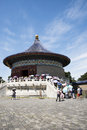 Asian China, Beijing, Tiantan Park, the imperial vault of heaven, historical buildings Royalty Free Stock Photo