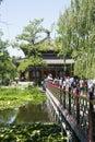 Asian china royal garden old summer palace jianbi pavilion pavilion in a blue mirror chinese beijing belonging to the Royalty Free Stock Image