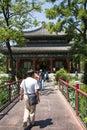 Asian china royal garden old summer palace jianbi pavilion pavilion in a blue mirror chinese beijing belonging to the Stock Image