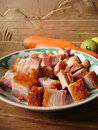 Crispy Roast Pork Belly Royalty Free Stock Photo
