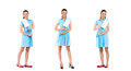 Asian cleaning lady woman Royalty Free Stock Photo