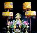 Asian colorful mythological statue