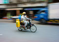 Asian delivery man, transport gas tank