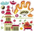 Asian design elements. Stock Images