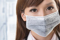 Asian doctor look at you closeup portrait at hospital Stock Images