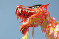 Asian dragon dance Royalty Free Stock Photo