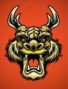Asian dragon head