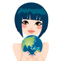 Asian Earth Woman Royalty Free Stock Photography