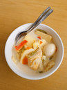 Asian ethnic dish, lontong Stock Photography