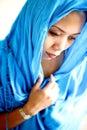 Asian fêmea no lenço principal. Fotos de Stock Royalty Free