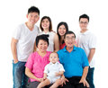 Asian family indoor portrait of three generations Royalty Free Stock Photography