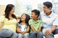 Asian family portrait Royalty Free Stock Photo