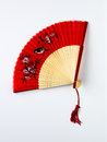 Asian fan white background Stock Photos