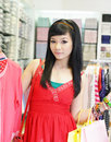 Asian female shopping Royalty Free Stock Images