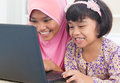 Asian female surfing internet Stock Photo