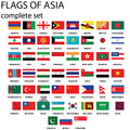 Asian flags Stock Photos