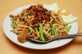 Asian fried noodle Stock Images