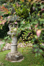Asian garden statue. Royalty Free Stock Photography