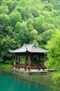 An Asian Gazebo At Tian Mu Sha...