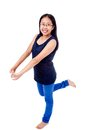 Asian Girl in Braces Striking a Pose Royalty Free Stock Photo