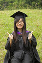 Asian girl graduation Royalty Free Stock Photography