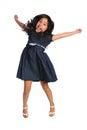Asian Girl Jumping Royalty Free Stock Photo