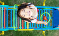 Asian girl play outdoor playpark Royalty Free Stock Photo