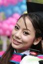 Asian graduate. Royalty Free Stock Image