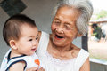Asian Grandmother with baby Royalty Free Stock Photo