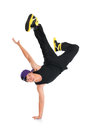 Asian hip hop dancer full body cool looking teen isolated on white background youth culture Royalty Free Stock Photo