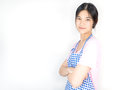 Asian housewife is in ready for work for employment Royalty Free Stock Photo