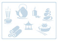 Asian icons vector set of spa Stock Image