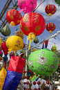Asian lanterns in lantern festival Royalty Free Stock Photos