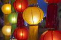 Asian lanterns in lantern festival Royalty Free Stock Photography