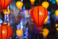 Asian lanterns in lantern festival chiangmai thailand Stock Images