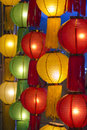 Asian lanterns in lantern festival chiangmai thailand Royalty Free Stock Images