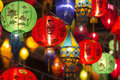 Asian lanterns in lantern festival colorful Stock Photos