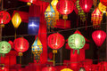 Asian lanterns in lantern festival colorful Stock Image