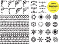Asian large set of patterns and ornaments. Set of seamless