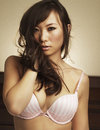Asian lingerie model Royalty Free Stock Photography