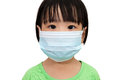 Asian Little Chinese Girl Wearing a Protective Mask Royalty Free Stock Photo
