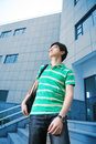 Asian male student Royalty Free Stock Photo