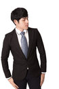Asian man business man smart with white background Royalty Free Stock Photo