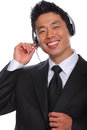 Asian Man customs service Representative Stock Image