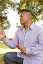 Asian Man Proposing Marriage Royalty Free Stock Photography