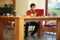 Asian man using laptop young Stock Photography