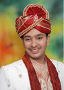 Asian man in wedding clothes Royalty Free Stock Photos