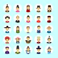 Asian Man And Woman Avatar Set Icon Female Male In Traditional Costume Profile Portrait Collection Royalty Free Stock Photo