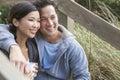 Asian Man Woman Romantic Couple Drinking Coffee Royalty Free Stock Photo